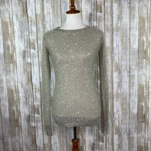 BB Dakota Gray Sparkly Sweater Size Small